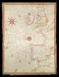 Portolan Chart of the British Isles ff. 1v-2